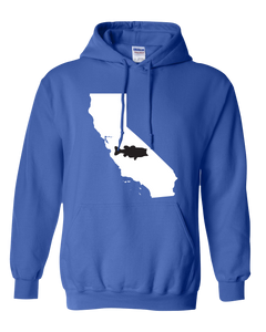 Pullover Hooded Sweatshirt California Royal Large Mouth Bass Vibrant Design High Quality Tight Knit Ring Spun Low Maintenance Cotton Printed With The Newest Available Color Transfer Technology