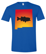Load image into Gallery viewer, Short Sleeve T-Shirt New Mexico Royal Large Mouth Bass Vibrant Design High Quality Tight Knit Ring Spun Low Maintenance Cotton Printed With The Newest Available Color Transfer Technology