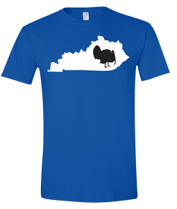 Short Sleeve T-Shirt Kentucky Royal Turkey Vibrant Design High Quality Tight Knit Ring Spun Low Maintenance Cotton Printed With The Newest Available Color Transfer Technology
