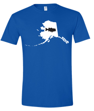 Load image into Gallery viewer, Short Sleeve T-Shirt Alaska Royal Large Mouth Bass Vibrant Design High Quality Tight Knit Ring Spun Low Maintenance Cotton Printed With The Newest Available Color Transfer Technology