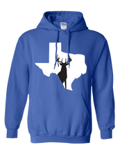 Load image into Gallery viewer, Pullover Hooded Sweatshirt Texas Royal Whitetail Deer Vibrant Design High Quality Tight Knit Ring Spun Low Maintenance Cotton Printed With The Newest Available Color Transfer Technology