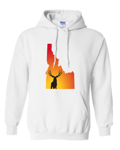 Pullover Hooded Sweatshirt Idaho White Mule Deer Vibrant Design High Quality Tight Knit Ring Spun Low Maintenance Cotton Printed With The Newest Available Color Transfer Technology