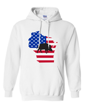 Load image into Gallery viewer, Pullover Hooded Sweatshirt Wisconsin White Wild Hog Vibrant Design High Quality Tight Knit Ring Spun Low Maintenance Cotton Printed With The Newest Available Color Transfer Technology