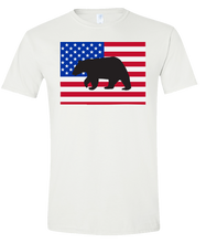 Load image into Gallery viewer, Short Sleeve T-Shirt Colorado White Black Bear Vibrant Design High Quality Tight Knit Ring Spun Low Maintenance Cotton Printed With The Newest Available Color Transfer Technology