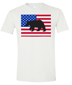 Short Sleeve T-Shirt Colorado White Black Bear Vibrant Design High Quality Tight Knit Ring Spun Low Maintenance Cotton Printed With The Newest Available Color Transfer Technology