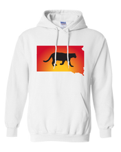 Load image into Gallery viewer, Pullover Hooded Sweatshirt South Dakota White Mountain Lion Vibrant Design High Quality Tight Knit Ring Spun Low Maintenance Cotton Printed With The Newest Available Color Transfer Technology