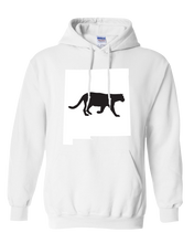 Load image into Gallery viewer, Pullover Hooded Sweatshirt New Mexico White Mountain Lion Vibrant Design High Quality Tight Knit Ring Spun Low Maintenance Cotton Printed With The Newest Available Color Transfer Technology