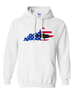 Pullover Hooded Sweatshirt Kentucky White Large Mouth Bass Vibrant Design High Quality Tight Knit Ring Spun Low Maintenance Cotton Printed With The Newest Available Color Transfer Technology