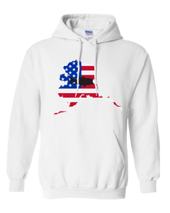Pullover Hooded Sweatshirt Alaska White Large Mouth Bass Vibrant Design High Quality Tight Knit Ring Spun Low Maintenance Cotton Printed With The Newest Available Color Transfer Technology