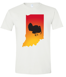 Short Sleeve T-Shirt Indiana White Turkey Vibrant Design High Quality Tight Knit Ring Spun Low Maintenance Cotton Printed With The Newest Available Color Transfer Technology