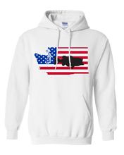 Load image into Gallery viewer, Pullover Hooded Sweatshirt Washington White Large Mouth Bass Vibrant Design High Quality Tight Knit Ring Spun Low Maintenance Cotton Printed With The Newest Available Color Transfer Technology