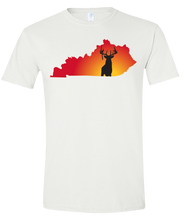 Load image into Gallery viewer, Short Sleeve T-Shirt Kentucky White Whitetail Deer Vibrant Design High Quality Tight Knit Ring Spun Low Maintenance Cotton Printed With The Newest Available Color Transfer Technology