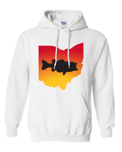 Pullover Hooded Sweatshirt Ohio White Large Mouth Bass Vibrant Design High Quality Tight Knit Ring Spun Low Maintenance Cotton Printed With The Newest Available Color Transfer Technology