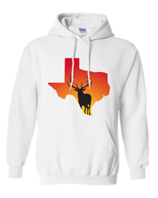 Load image into Gallery viewer, Pullover Hooded Sweatshirt Texas White Elk Vibrant Design High Quality Tight Knit Ring Spun Low Maintenance Cotton Printed With The Newest Available Color Transfer Technology