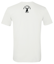 Load image into Gallery viewer, Short Sleeve T-Shirt Arkansas White Black Bear Vibrant Design High Quality Tight Knit Ring Spun Low Maintenance Cotton Printed With The Newest Available Color Transfer Technology