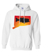 Load image into Gallery viewer, Pullover Hooded Sweatshirt Connecticut White Large Mouth Bass Vibrant Design High Quality Tight Knit Ring Spun Low Maintenance Cotton Printed With The Newest Available Color Transfer Technology