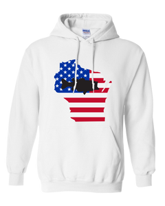 Pullover Hooded Sweatshirt Wisconsin White Large Mouth Bass Vibrant Design High Quality Tight Knit Ring Spun Low Maintenance Cotton Printed With The Newest Available Color Transfer Technology