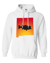 Load image into Gallery viewer, Pullover Hooded Sweatshirt New Mexico White Large Mouth Bass Vibrant Design High Quality Tight Knit Ring Spun Low Maintenance Cotton Printed With The Newest Available Color Transfer Technology