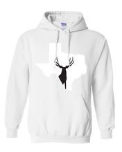 Load image into Gallery viewer, Pullover Hooded Sweatshirt Texas White Mule Deer Vibrant Design High Quality Tight Knit Ring Spun Low Maintenance Cotton Printed With The Newest Available Color Transfer Technology