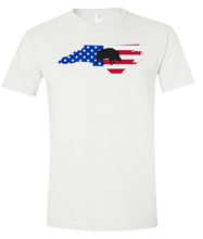 Load image into Gallery viewer, Short Sleeve T-Shirt North Carolina White Wild Hog Vibrant Design High Quality Tight Knit Ring Spun Low Maintenance Cotton Printed With The Newest Available Color Transfer Technology