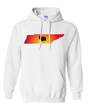 Load image into Gallery viewer, Pullover Hooded Sweatshirt Tennessee White Turkey Vibrant Design High Quality Tight Knit Ring Spun Low Maintenance Cotton Printed With The Newest Available Color Transfer Technology