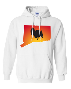 Pullover Hooded Sweatshirt Connecticut White Turkey Vibrant Design High Quality Tight Knit Ring Spun Low Maintenance Cotton Printed With The Newest Available Color Transfer Technology