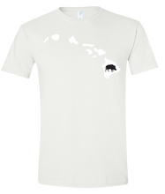 Load image into Gallery viewer, Short Sleeve T-Shirt Hawaii White Wild Hog Vibrant Design High Quality Tight Knit Ring Spun Low Maintenance Cotton Printed With The Newest Available Color Transfer Technology