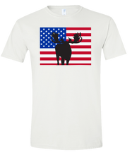 Load image into Gallery viewer, Short Sleeve T-Shirt Colorado White Moose Vibrant Design High Quality Tight Knit Ring Spun Low Maintenance Cotton Printed With The Newest Available Color Transfer Technology