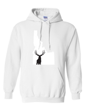 Load image into Gallery viewer, Pullover Hooded Sweatshirt Idaho White Mule Deer Vibrant Design High Quality Tight Knit Ring Spun Low Maintenance Cotton Printed With The Newest Available Color Transfer Technology