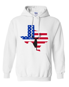 Pullover Hooded Sweatshirt Texas White Mule Deer Vibrant Design High Quality Tight Knit Ring Spun Low Maintenance Cotton Printed With The Newest Available Color Transfer Technology