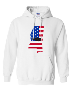 Pullover Hooded Sweatshirt Mississippi White Large Mouth Bass Vibrant Design High Quality Tight Knit Ring Spun Low Maintenance Cotton Printed With The Newest Available Color Transfer Technology