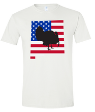 Load image into Gallery viewer, Short Sleeve T-Shirt New Mexico White Turkey Vibrant Design High Quality Tight Knit Ring Spun Low Maintenance Cotton Printed With The Newest Available Color Transfer Technology