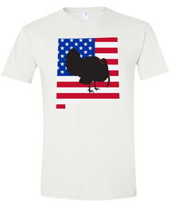 Short Sleeve T-Shirt New Mexico White Turkey Vibrant Design High Quality Tight Knit Ring Spun Low Maintenance Cotton Printed With The Newest Available Color Transfer Technology