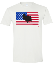 Load image into Gallery viewer, Short Sleeve T-Shirt South Dakota White Turkey Vibrant Design High Quality Tight Knit Ring Spun Low Maintenance Cotton Printed With The Newest Available Color Transfer Technology