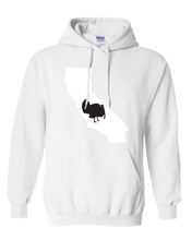 Load image into Gallery viewer, Pullover Hooded Sweatshirt California White Turkey Vibrant Design High Quality Tight Knit Ring Spun Low Maintenance Cotton Printed With The Newest Available Color Transfer Technology