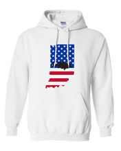 Load image into Gallery viewer, Pullover Hooded Sweatshirt Indiana White Large Mouth Bass Vibrant Design High Quality Tight Knit Ring Spun Low Maintenance Cotton Printed With The Newest Available Color Transfer Technology