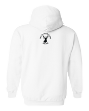 Load image into Gallery viewer, Pullover Hooded Sweatshirt New Hampshire White Black Bear Vibrant Design High Quality Tight Knit Ring Spun Low Maintenance Cotton Printed With The Newest Available Color Transfer Technology