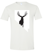 Load image into Gallery viewer, Short Sleeve T-Shirt Nevada White Mule Deer Vibrant Design High Quality Tight Knit Ring Spun Low Maintenance Cotton Printed With The Newest Available Color Transfer Technology