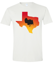 Load image into Gallery viewer, Short Sleeve T-Shirt Texas White Turkey Vibrant Design High Quality Tight Knit Ring Spun Low Maintenance Cotton Printed With The Newest Available Color Transfer Technology