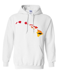 Pullover Hooded Sweatshirt Hawaii White Large Mouth Bass Vibrant Design High Quality Tight Knit Ring Spun Low Maintenance Cotton Printed With The Newest Available Color Transfer Technology