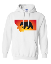 Load image into Gallery viewer, Pullover Hooded Sweatshirt Montana White Black Bear Vibrant Design High Quality Tight Knit Ring Spun Low Maintenance Cotton Printed With The Newest Available Color Transfer Technology