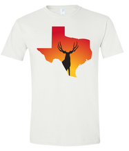 Load image into Gallery viewer, Short Sleeve T-Shirt Texas White Mule Deer Vibrant Design High Quality Tight Knit Ring Spun Low Maintenance Cotton Printed With The Newest Available Color Transfer Technology