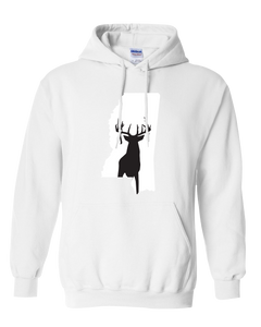 Pullover Hooded Sweatshirt Mississippi White Whitetail Deer Vibrant Design High Quality Tight Knit Ring Spun Low Maintenance Cotton Printed With The Newest Available Color Transfer Technology