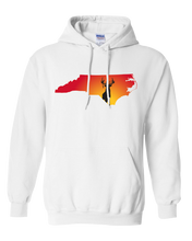 Load image into Gallery viewer, Pullover Hooded Sweatshirt North Carolina White Whitetail Deer Vibrant Design High Quality Tight Knit Ring Spun Low Maintenance Cotton Printed With The Newest Available Color Transfer Technology