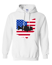 Load image into Gallery viewer, Pullover Hooded Sweatshirt Ohio White Large Mouth Bass Vibrant Design High Quality Tight Knit Ring Spun Low Maintenance Cotton Printed With The Newest Available Color Transfer Technology