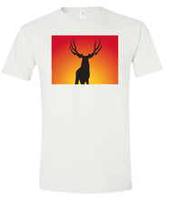 Load image into Gallery viewer, Short Sleeve T-Shirt Colorado White Mule Deer Vibrant Design High Quality Tight Knit Ring Spun Low Maintenance Cotton Printed With The Newest Available Color Transfer Technology