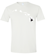 Load image into Gallery viewer, Short Sleeve T-Shirt Hawaii White Axis Deer Vibrant Design High Quality Tight Knit Ring Spun Low Maintenance Cotton Printed With The Newest Available Color Transfer Technology