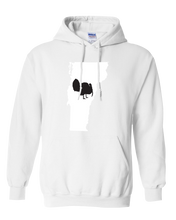 Load image into Gallery viewer, Pullover Hooded Sweatshirt Vermont White Turkey Vibrant Design High Quality Tight Knit Ring Spun Low Maintenance Cotton Printed With The Newest Available Color Transfer Technology
