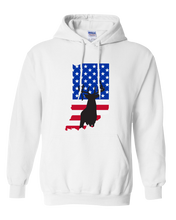 Load image into Gallery viewer, Pullover Hooded Sweatshirt Indiana White Whitetail Deer Vibrant Design High Quality Tight Knit Ring Spun Low Maintenance Cotton Printed With The Newest Available Color Transfer Technology