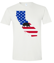 Load image into Gallery viewer, Short Sleeve T-Shirt California White Wild Hog Vibrant Design High Quality Tight Knit Ring Spun Low Maintenance Cotton Printed With The Newest Available Color Transfer Technology